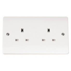 Scolmore CMA032 13A 2 Gang Unswitched Socket
