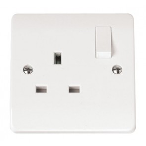 Scolmore CMA035 13A 1 Gang DP Switched Socket