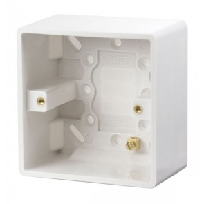 Scolmore CMA085 1 Gang 47mm Deep Pattress Box