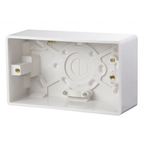 Scolmore CMA086 2 Gang 47mm Deep Pattress Box
