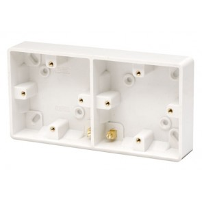 Scolmore CMA089 Dual Accessory 29mm Deep Pattress Box