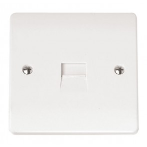 Scolmore CMA124 Single Telephone Outlet - Secondary