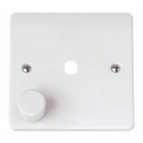 Scolmore CMA145PL 1 Gang Unfurnished Dimmer Plate & Knob