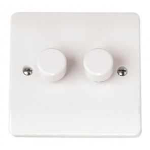 Scolmore CMA146 2 Gang 2 Way 250Va Dimmer Switch