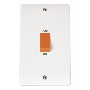 Scolmore CMA202 45A 2 Gang DP Switch