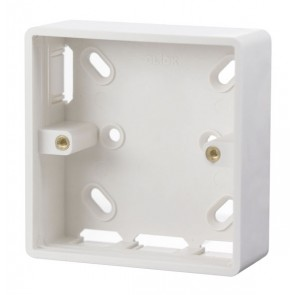 Scolmore CMA230 1 Gang 29mm Deep PVC Pattress Box