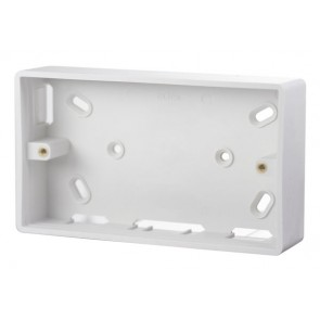 Scolmore CMA235 2 Gang 29mm Deep PVC Pattress Box