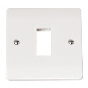 Scolmore CMA401 1 Gang MiniGrid Unfurnished Plate