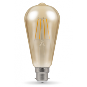 Crompton 4221 5W BC/B22d LED Filament ST64 Dimmable Antique Bronze Lamp