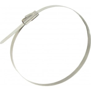 Deligo CTSS200 4.6 x 200 Stainless Steel Ball Lockable Tie (Pack of 100)