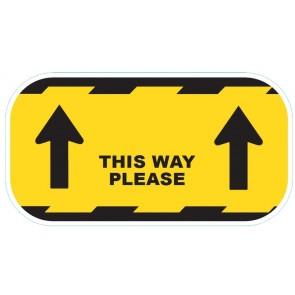 "CVTWY Coronavirus COVID19 ""This Way"" Floor Sticker Yellow 300mm - Buy online from Sparkshop"