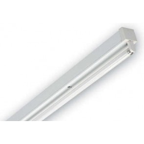 Dextra Lighting DP136HFC84 Dexpax White Single High Frequency Fluorescent Batten Luminaire with 1 x 36W T8 Lamp 4ft