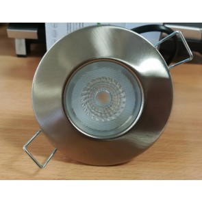 Collingwood Halers DLT388BS5540 Downlight, Dimmable, H2 Lite 55Deg 4000K LED, c/w Brushed Steel Bezel & Push-Fit Connector
