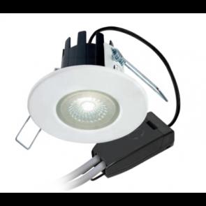 Collingwood Halers DLT388MW5540 Downlight, Dimmable, H2 Lite 55Deg 4000K LED, c/w Matt White Bezel & Push-Fit Connector - buy online from SparkShop