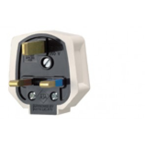 MK PF133WHI duraplug White Rubber UK Mains Plug with 13A Fuse