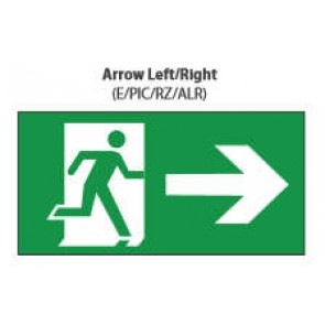 Channel Safety Systems Razor Pictogram Arrow Left/Right - E/PIC/RZ/ALR