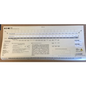 Eaton MEM Consumer Unit Label for Fuse Boards