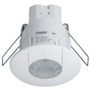 HAGER EEK513W, Sensor, PIR Occupancy c/w 3m Lead