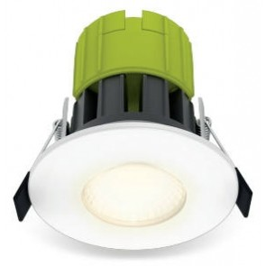 Luceco EFT60W40-01 Downlight, LED Eco Fixed Fire Rated Dimmable, c/w Bezel 4000K IP65