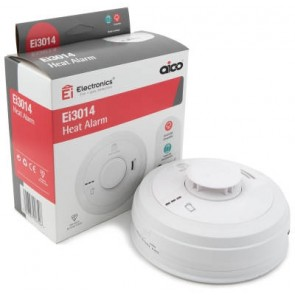 Aico EI3014 Heat Alarm, Mains, 10Yr Lithium Back-up Easi-fit Base