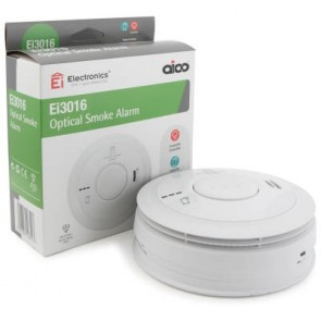 Aico EI3016 Smoke Alarm, Optical Mains, 10Yr Lithium Back-up Easi-fit Base