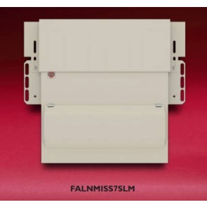 Wylex FALNMISS7SLM Consumer Unit, 7 Way Skeleton AM3 Dual RCD, c/w Flexible Main Switch