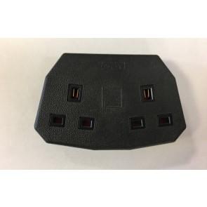 MK FCT133BLK Heavy Duty Trailing Sockets 13A Twin Outlet Black