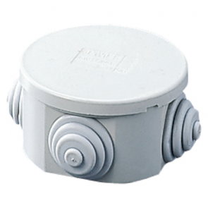 Gewiss GW44001 Junction Box with Plain Press-On Lid IP44, Internal Dimensions Ø 65x35, Walls with Cable Glands