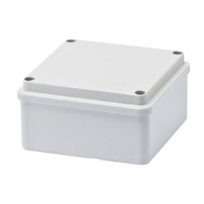 Gewiss GW44204 Junction Box with Plain Screwed Lid IP56, Internal Dimensions 100x100x50, Smooth Walls