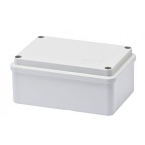 Gewiss GW44205 Junction Box with Plain Screwed Lid IP56, Internal Dimensions 120x80x50, Smooth Walls