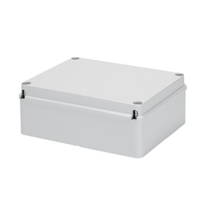 Gewiss GW44209 Junction Box with Plain Screwed Lid IP56, Internal Dimensions 300x220x120, Smooth Walls