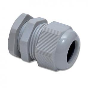 Wiska 10100613 GLP20+ grey Cable gland with lock nut, polyamide