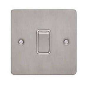 Schneider GU1212WSS Ultimate Flat plate - 2-way plate switch - 1 gang - stainless steel