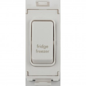 Schneider GUG20DPFFZW Ultimate 2 Pole 1 Way Grid System Switch Module (Fridge/Freezer)
