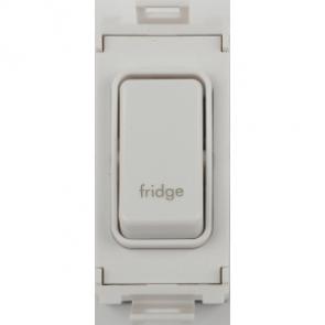 Schneider GUG20DPFRW Ultimate 2 Pole 1 Gang Grid System Switch Module (Fridge)