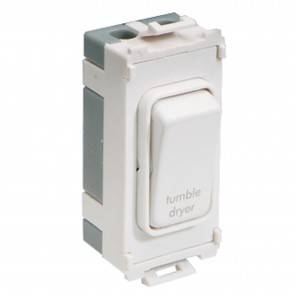 Schneider GUG20DPTDW Ultimate 2 Pole 1 Gang Grid System Switch Module (Tumble Dryer)