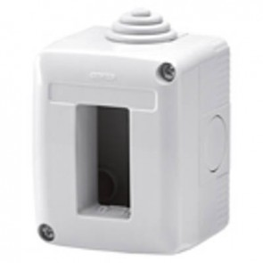 Gewiss GW27001 Enclosure, Surface Mounting Protected Empty 1G, System 40 Std, Size: 66x82x55mm