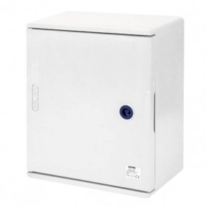 GEWISS GW46001F, Enclosure, Watertight c/w Blank Door & Lock, IP66, Size:	250x300x160mm