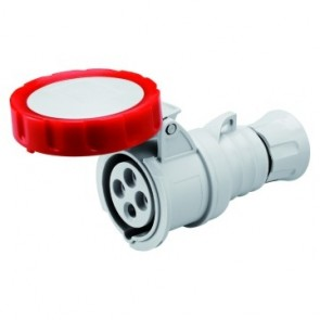 Gewiss GW62030H Straight Connector HP IP66 / IP67 / IP68 /IP69, 3P+E, 16A, 380-415V, 50/60HZ, Red, 6H, Screw Wiring
