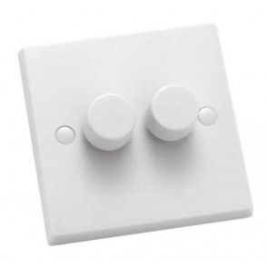 Hamilton 2 Gang 2 Way 400W Push On/Off Dimmer KP2X40