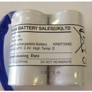 Yuasa 2DH4-0LAP3 2.4V KRMT33/62 Sealed Rechargeable Battery, High Temp D