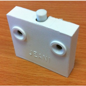 Jeani 142W Door Switch, Surface, Push to Break, 1A, White