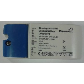 LightwaveRF JSJSLW815 24V Driver for Flexible LED Strip, Load 2.5 - 25W