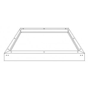 Kosnic KPTPNL/SMT-WHT0606 Surface mount kit for 595x595 panel, White