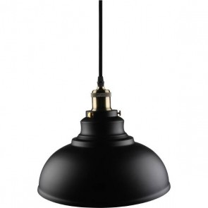 Kosnic KPDT1E27-BLK 60W E27 Pendant Cable Set with Bowl Lampshade