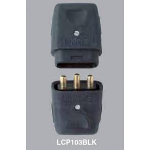 MK, LCP103BLK, Lead Connectors, THREE PIN 10 AMP, THREE PIN 10A PLUG AND SOCKET, Black