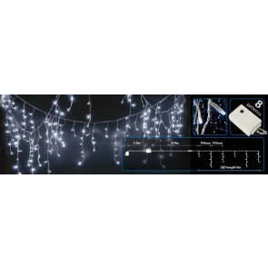 Blue LED Christmas Icicle Lights With Controller 240 LEDs 16m