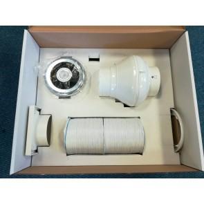 Manrose LEDSLCFDTCN Fan, Kit Inline Showerlite Timer LED, SCF200 Series
