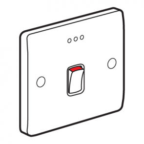 Legrand Synergy 730012 Double Pole Switch with Red LED Power Indicator 20A 250V