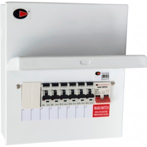 Lewden QFS-PR08 100A Populated RCBO 8 Way, 6 RCBO Consumer Unit